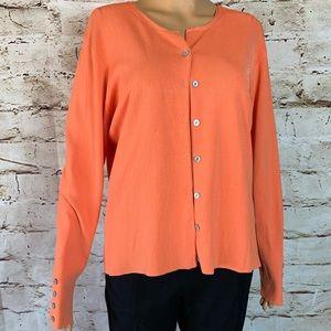 Worthington Sweater Set In Tangerine